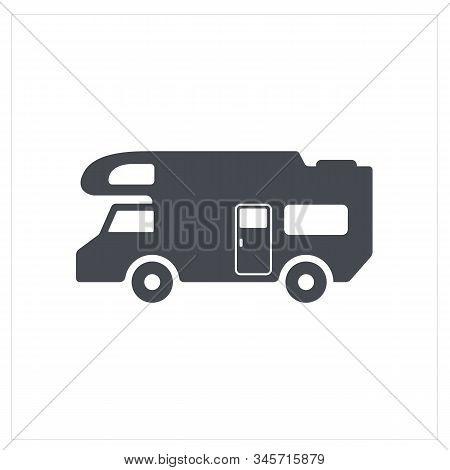 Resort Motorhome Icon. Simple Illustration Of Resort Motorhome Vector Icon For Web Design Isolated O