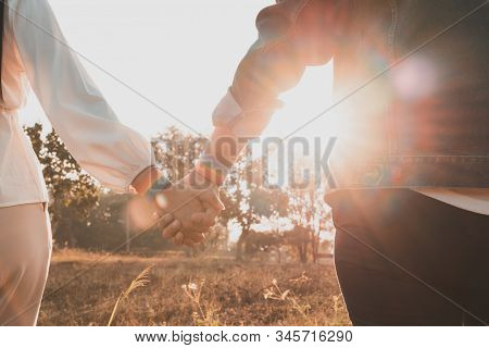 Young Asian Women Lgbt Lesbian Couple Holding Hands With Lgbt Pride.