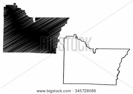 Lawrence County, Arkansas (u.s. County, United States Of America,usa, U.s., Us) Map Vector Illustrat