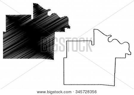 Lincoln County, Arkansas (u.s. County, United States Of America,usa, U.s., Us) Map Vector Illustrati