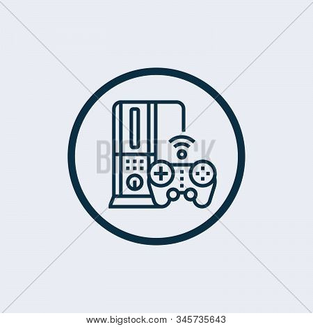 Game Console Icon Vector From Gaming Collection. Thin Line Game Console Outline Icon Vector Illustra