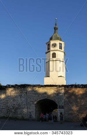 Belgrade, Serbia - August 12, 2019: Clock Tower (sahat Tower) At Belgrade Fortress And Kalemegdan Pa