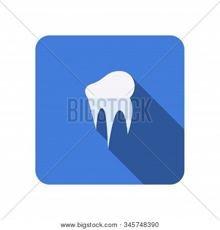 Icicle Flat Icon With Long Shadow, Icon For Web Vector