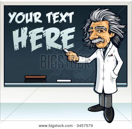 Vector Genius Professor