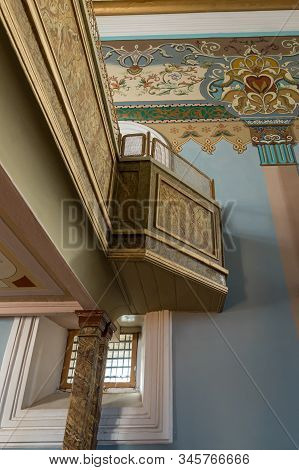 Kutaisi, Georgia, October 13, 2019 : Balcony For Women In The Hall Of The Old Synagogue On The Boris