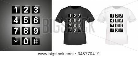 Keypad T-shirt Print Stamp For Tee, T Shirts Applique, Fashion, Badge, Label Retro Clothing, Jeans,
