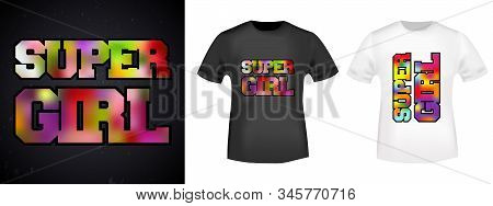 Super Girl T-shirt Print Stamp For Tee, T Shirts Applique, Fashion, Badge, Label Retro Clothing, Jea