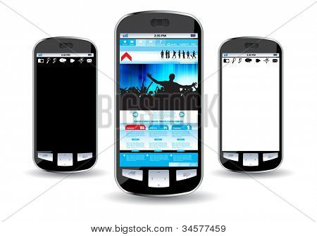 Smart phone editable vector