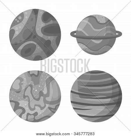 Vector Design Of Universe And Astronomy Icon. Collection Of Universe And Galaxy Vector Icon For Stoc