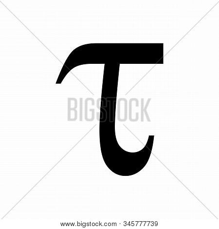 Lowercase Tau Greek Letter Isolated On White Background
