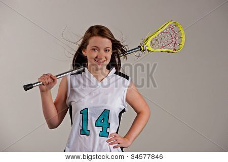 Girl lacrosse player