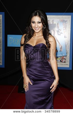 LOS ANGELES - APR 21: Francia Raisa at the premiere of Walt Disney Pictures' 'Prom' at the El Capitan on April 21, 2011 in Los Angeles, California