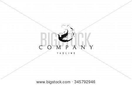 Vector Logo On Which The Abstract Image Of The Phoenix.