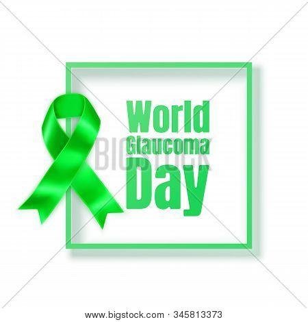 Glaucoma Awareness Month Concept Lymphoma Awareness Month. Realistic Lime Green Ribbon Symbol. Medic