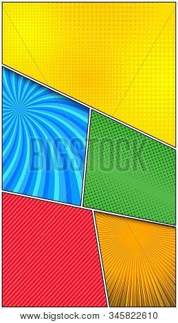 Comic Abstract Colorful Frames Composition With Different Humor Effects. Vector Illustration