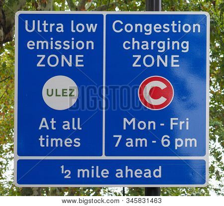 Ulez (ultra Low Emission Zone) And C (congestion Charging Zone)