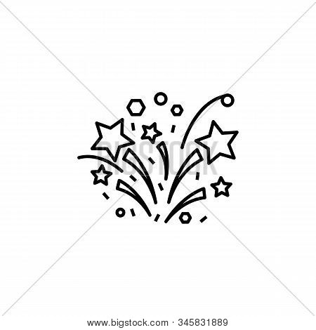 Fireworks, Party Line Icon. Elements Of Wedding Illustration Icons. Signs, Symbols Can Be Used For W