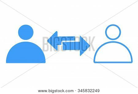 Transfer Between User Accounts Icon, Transfer Between Users Icon Vector Illustration Eps10.