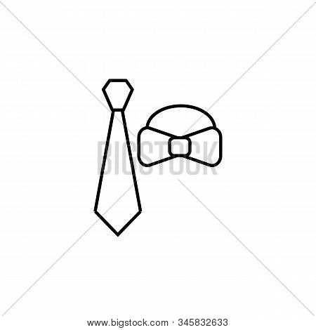 Tie, Cravat Line Icon. Elements Of Wedding Illustration Icons. Signs, Symbols Can Be Used For Web, L