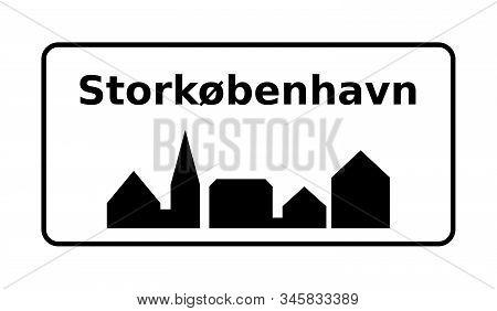 Greater Copenhagen City Road Sign In Denmark