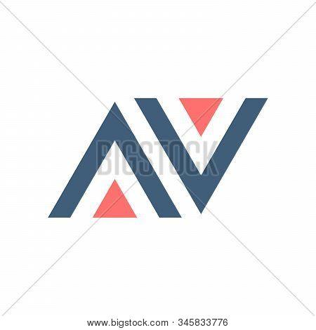 Av Va A V Initial Based Letter Icon Triangle Geometric Logo. Technology Business Identity Concept. C