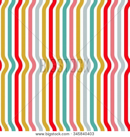 Seamless Lines Geometric Pattern, Abstract Minimal Vector Background With Parallel Stripes, Lined De