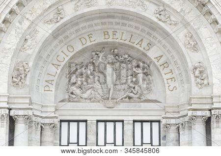 La Sinfonía, Symphony, By Leonardo Bistolfi, In The Palace Of Fine Arts, Palacio De Bellas Artes, A