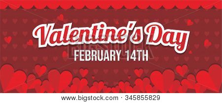 Background Selamat Valentine, Ilustrasi Selamat Valentine Vektor Untuk Web, Aplikasi, Dan Spanduk