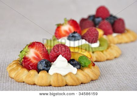 Tarts With Fruits