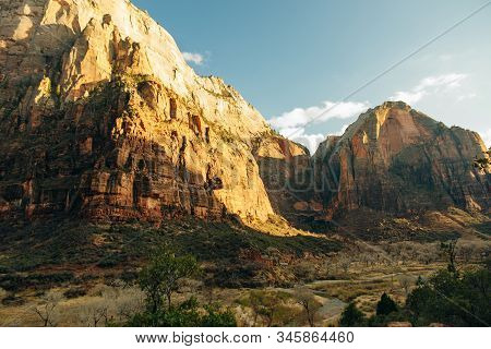 Zion National Park Is An American National Park Located In Southwestern Utah Near The Town Of Spring