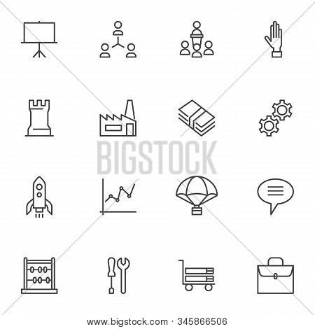 Business, Universal Line Icons Set. Linear Style Symbols Collection, Outline Signs Pack. Vector Grap