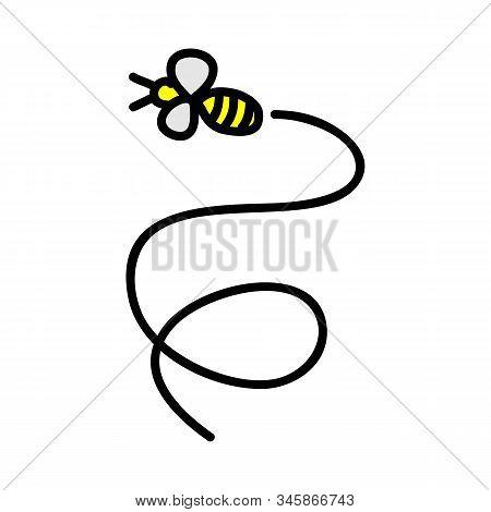 Bee Logo Template Vector Icon Illustration Design, Hive Logotype Concept, Bee Logo Design, Bee Logo,