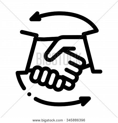 Handshake Icon Vector. Outline Handshake Sign. Isolated Contour Symbol Illustration
