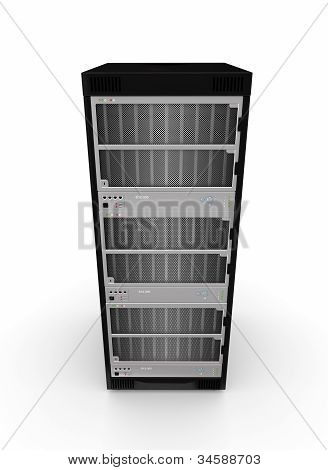 Server pc. Isolated on white background. 3d rendered. poster