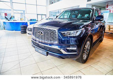 Kirov, Russia - May 07, 2019: Car In Showroom Of Dealership Datsun In Kirov