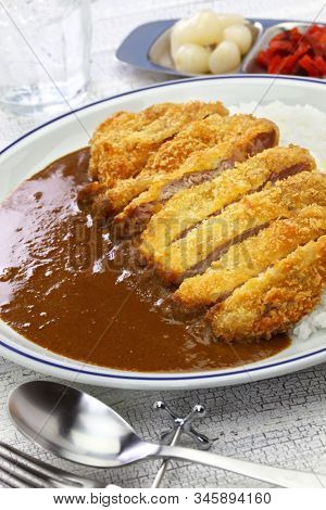 katsu curry, japanese curry with pork cutlet