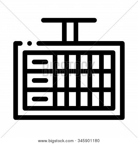 Game Scoreboard Icon Vector. Outline Game Scoreboard Sign. Isolated Contour Symbol Illustration