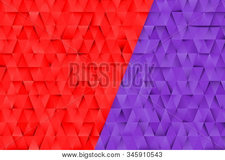 Red And Blue Triangles Abstract Background. Business Template For Advertising, Poster, Business Card