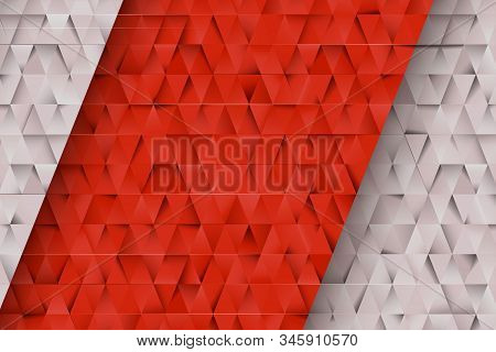 Red And Gray Triangles Abstract Background. Business Template For Advertising, Poster, Business Card