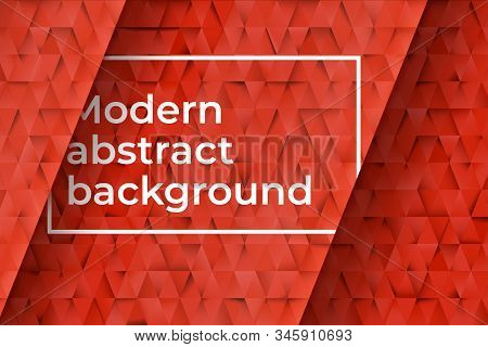 Red Triangles Abstract Background. Business Template For Advertising, Poster, Business Card And Soci