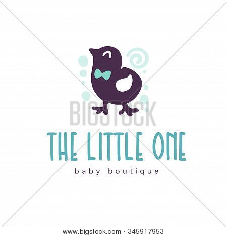 Logo Design For Kid Toys Store, Market, Boutique With Cute Little Boy Chicken Character Silhouette I