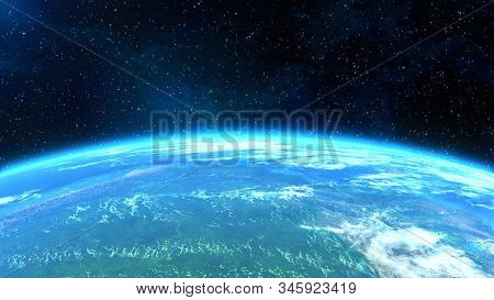 Spectacular Horizontal Close-up View Of The Earth