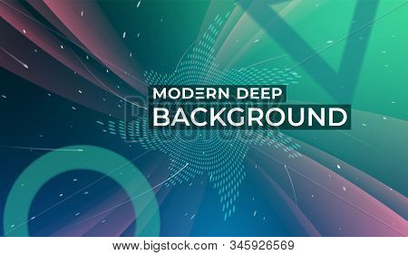 Colored Background With Dynamic Shapes. Fluid Shapes Composition. Modern Deep Background. Template F