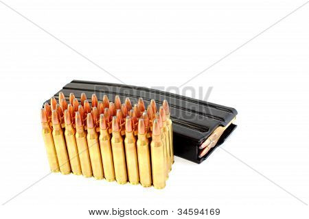 .223 Rifle Ammo with Banana Clip
