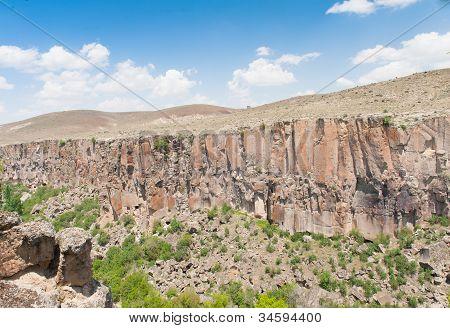 Rocks in Ihlara Valley - Cappadocia Turkey poster