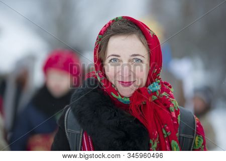Belarus, The City Of Gomil, January 13, 2019. Rite Generous Evening. Kalyada Ceremony.belarus, The C