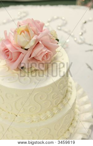 Detail Of Wedding Cake