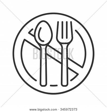 Starvation Black Line Icon. Poverty, Risis. Social Problem Concept. Sign For Web Page, Mobile App, B