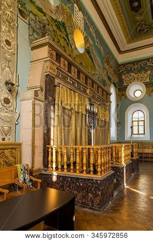 Kutaisi, Georgia, October 13, 2019 : The Interior Of The Old Synagogue On The Boris Gaponov Street I