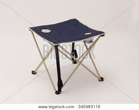 Foldable Camping Canvas Table Isolated On White Background